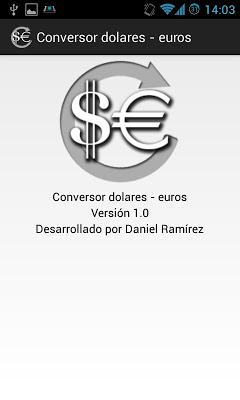 Dollar to Euro fast converter - screenshot