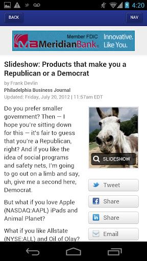 Philadelphia Business Journal  screenshots 2