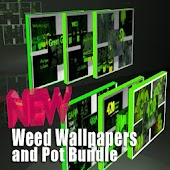 Weed Wallpaper and Pot Bundle