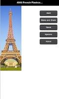 Screenshot of 4000 French Flashcards & Quiz