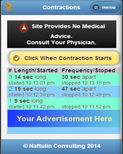 Contraction timer for labor- screenshot thumbnail