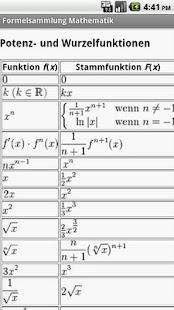 Formelsammlung Mathematik Pro - screenshot thumbnail