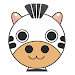 Cute Puzzle Zebra and Friends Icon