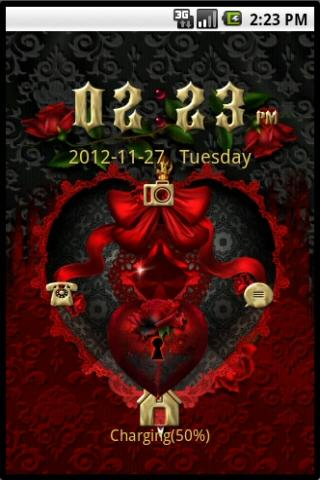 GO-Locker: Red Goth Hearts - screenshot