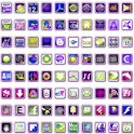 Neon Sqrs Icon Pack icon