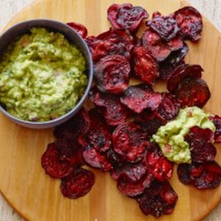 Guacamole and Baked Beet Chips