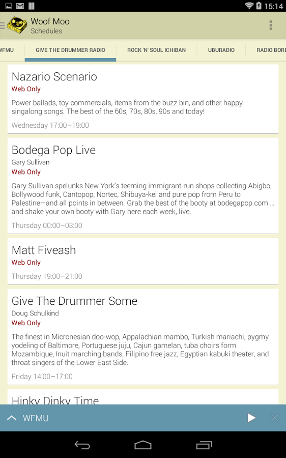 Woof Moo - WFMU online radio- screenshot