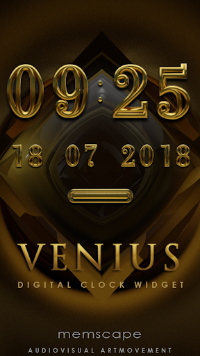 VENIUS Digital Clock Widget
