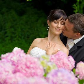 Dream Wedding by Gregor Grega - Wedding Bride & Groom ( magic, nature, wedding, slovenia, happiness, flowers, bride&groom,  )