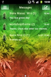 GO SMS Pro Theme Weed Ganja- screenshot thumbnail