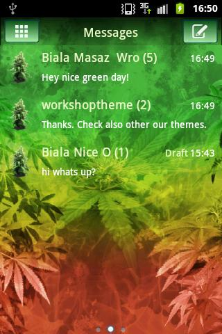 GO SMS Pro Theme Weed Ganja- screenshot