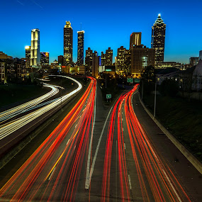 Jackson Bridge, Atlanta by Shalabh Sharma - City,  Street & Park  Night ( georgia, jackson bridge, atlanta )