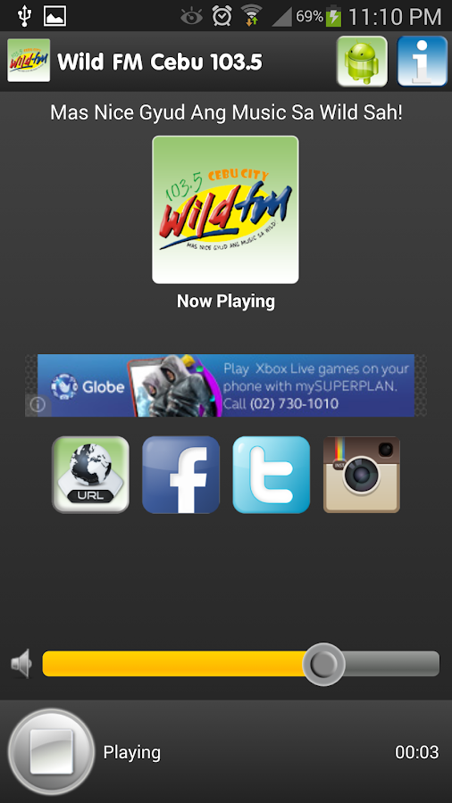 Wild FM Cebu 103.5 MHz - screenshot