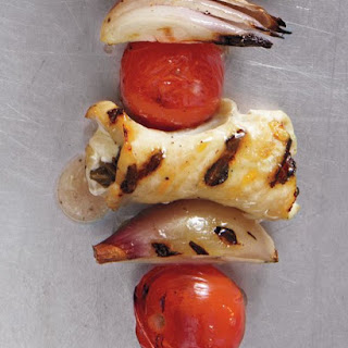 Mozzarella-Stuffed Turkey and Tomato Kebabs