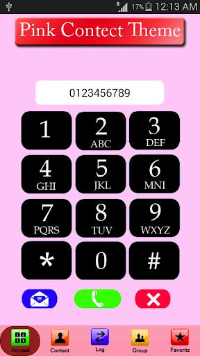 Pink Contact Theme:Dialer