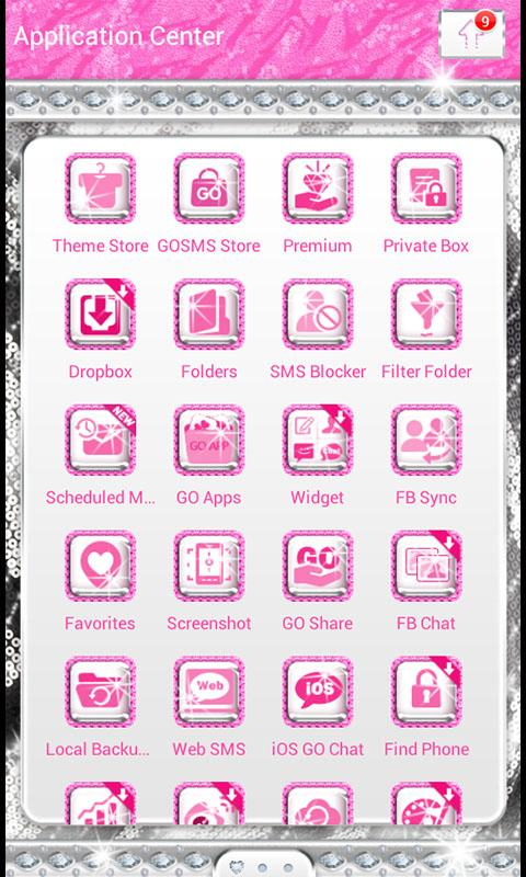 Glamour Pink Luxury Theme SMS★ - screenshot