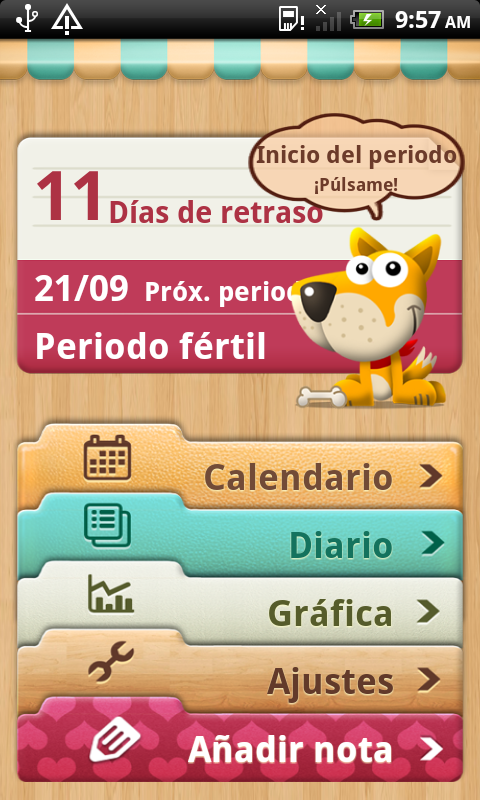Calendario Periodo Menstrual - screenshot