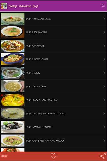 Resep Masakan Sup