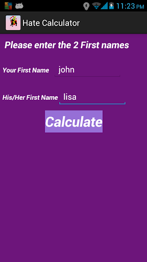 Hate Calculator