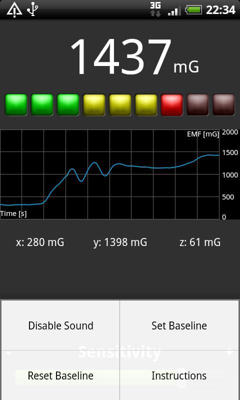 EMF Meter - screenshot