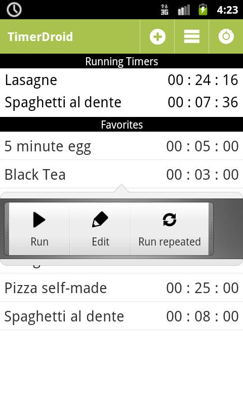 TimerDroid - Timer App- screenshot