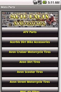 MOTORCYCLE PARTS & Accessories screenshot 0