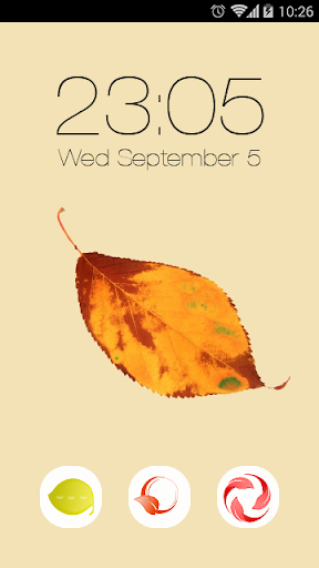 Vanilla Leaves Launcher Theme