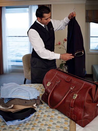 Let the Butlers of Oceania Riviera take care of your packing and unpacking needs during your stay.