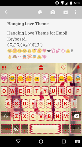 Hanging Love Emoji Keyboard