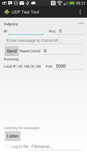 UDP Test Tool for Android