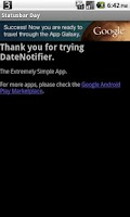 Screenshot of Statusbar Day of Month