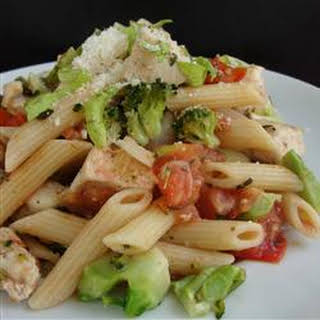 Chicken and Broccoli Pasta.