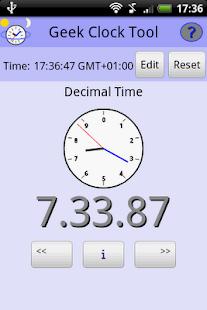 Geek Clock Tool- screenshot thumbnail