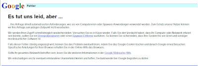 googles Verurteilung zum Virus