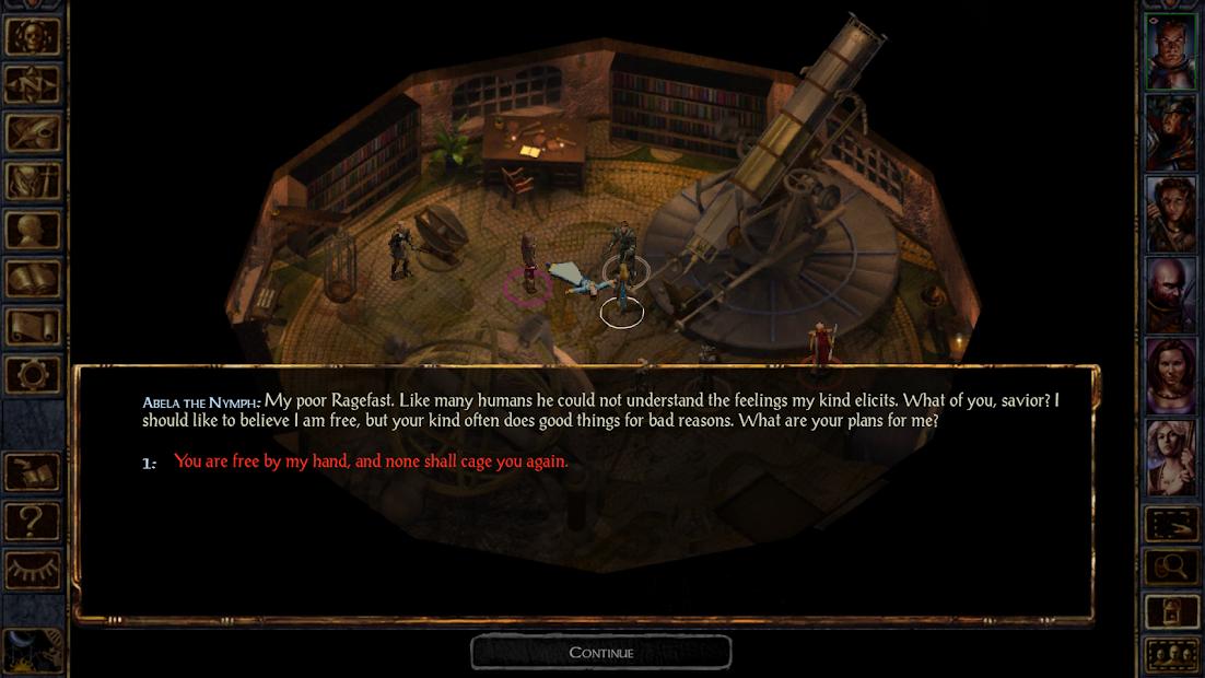 Baldur's Gate: Enhanced Edition Android App Screenshot