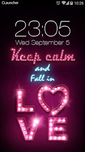 Pink Love Theme for Android - náhled