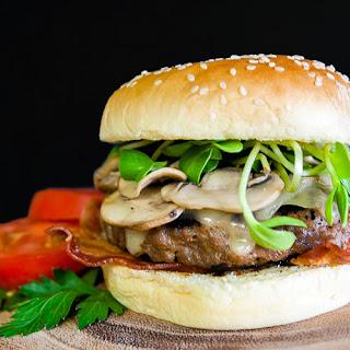 Mushroom Swiss Bacon Burger