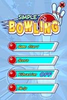 Screenshot of 3D SIMPLE BOWLING