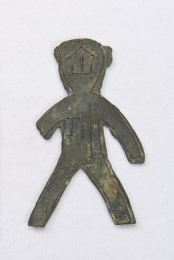 Coin shaped as a human figure