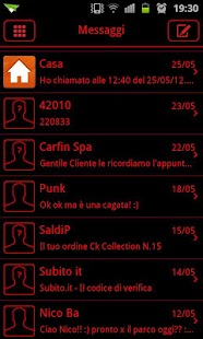 GO SMS Theme Messages Red- screenshot thumbnail