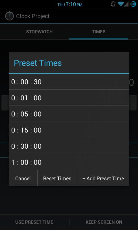 Clock Project - screenshot