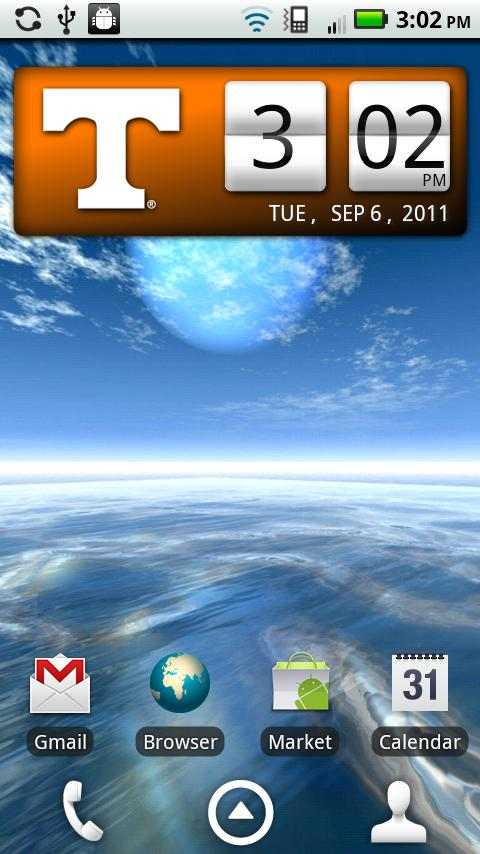 Tennessee Vols Clock Widget- screenshot