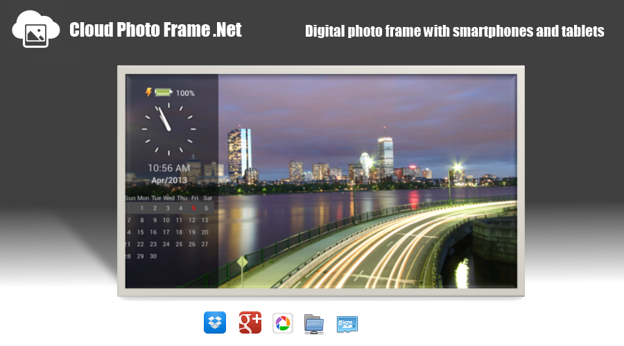 Cloud PhotoFrame.Net slideshow- screenshot