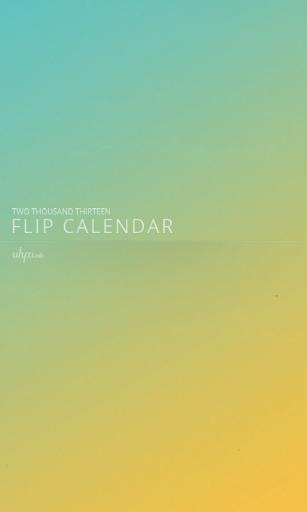 2014 플립 캘린더 위젯 Flip Calendar