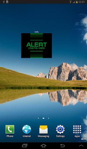 Star Trek Alert Battery Widget