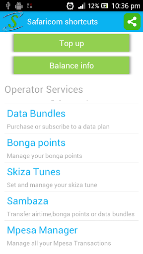 Safaricom shortcuts