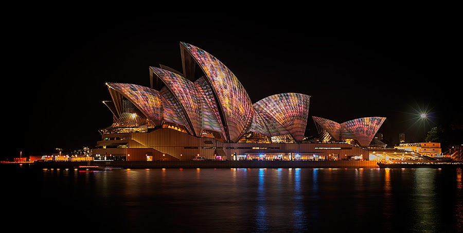 Sydney Opera House by Jim Merchant - Buildings & Architecture Statues & Monuments ( music, vivid, long exposure, opera house, sydney,  )