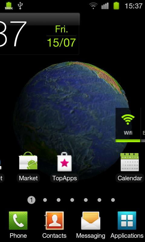 Planet Earth 3D Live Wallpaper - screenshot