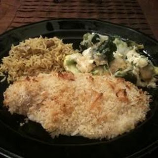Baked Salmon with Coconut Crust.