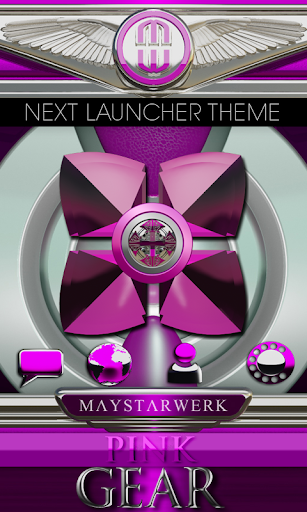 Next Launcher Theme Pink Gear